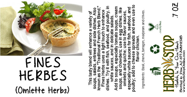 Fines Herbes - Omelette Herbs Label