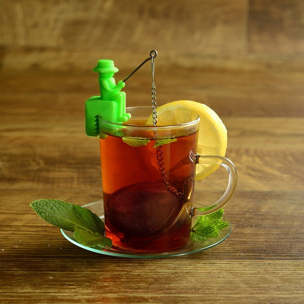 Fisherman tea infuser steeping