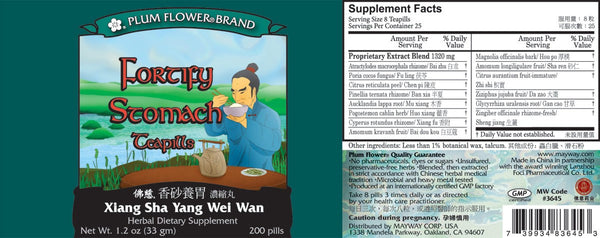 Fortify Stomach Supplement Facts