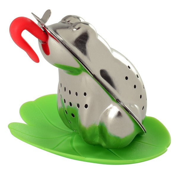 Froggy Tea Infuser with Lily Pad Drip Catcher