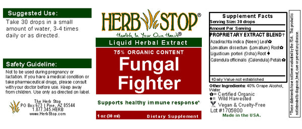 Fungal Fighter Extract Label