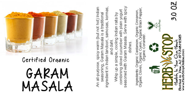 Garam Masala Label