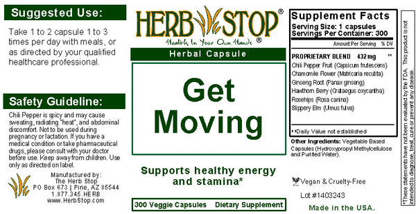 Get Moving Capsules Label