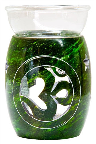 Green Aroma Lamp with Om Design
