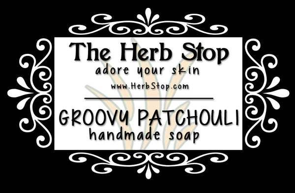 Groovy Patchouli Handmade Soap Label
