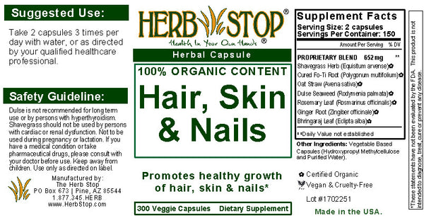 Hair, Skin & Nails Capsules Label