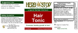 Hair Tonic Extract Label