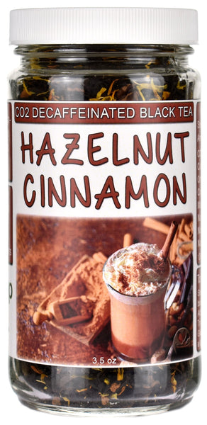Hazelnut Cinnamon CO2 Decaffeinated Black Tea Jar