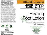 Healing Foot Lotion Label