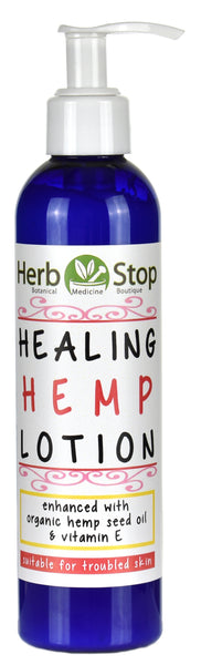 Healing Hemp Lotion Bottle