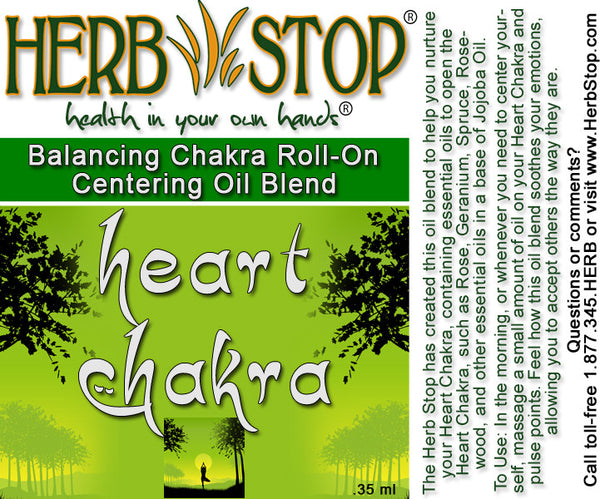 Heart Chakra Aromatherapy Roll On Label