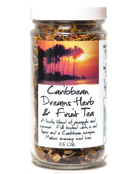Caribbean Dreams Herb & Fruit Tea - Glass Jar