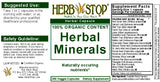 Herbal Minerals Capsules Label