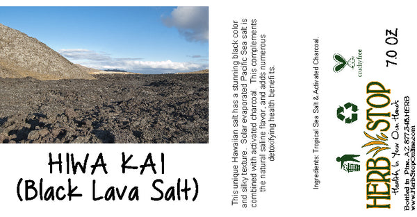 Hiwa Kai Black Lava Salt Label