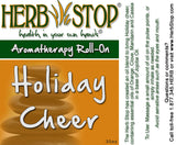 Holiday Cheer Roll-On Oil Blend Label