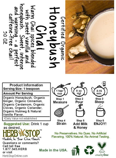 Honeybush Chai Label