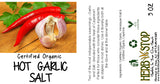 Hot Garlic Salt Label