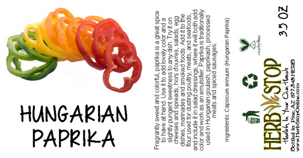 Hungarian Paprika Label