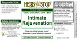 Intimate Rejuvenation Capsules Label