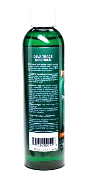 Ionic Trace Mineral Drops Supplement Facts