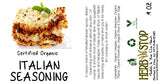 Italian Seasoning Label
