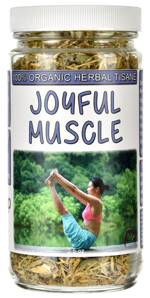 Organic Joyful Muscle & Nerve Loose Herbal Tea Jar