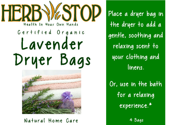 Lavender Dryer Bags Label