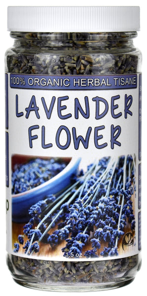 Organic Lavender Flower Herbal Tea Tisane Jar