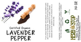 Lavender Pepper Label
