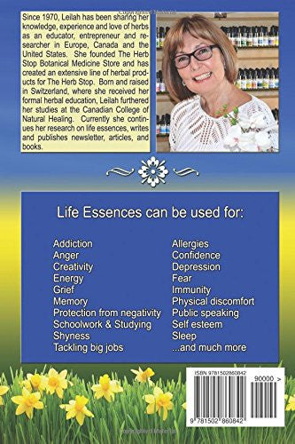 Life Essences by Leilah - Vibrational Essence Book Back Cover