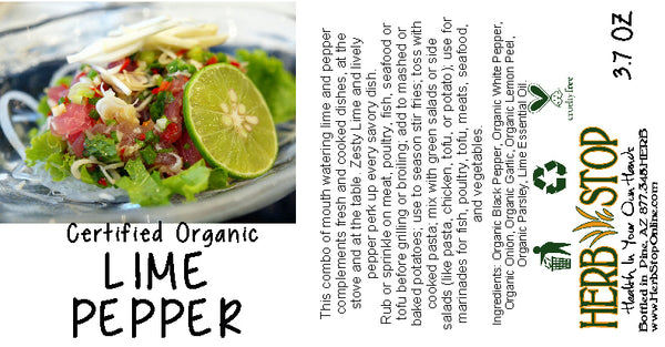 Lime Pepper Label