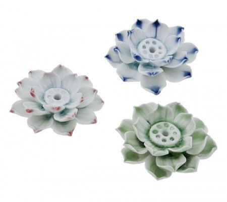 Ceramic Lotus Incense Holder
