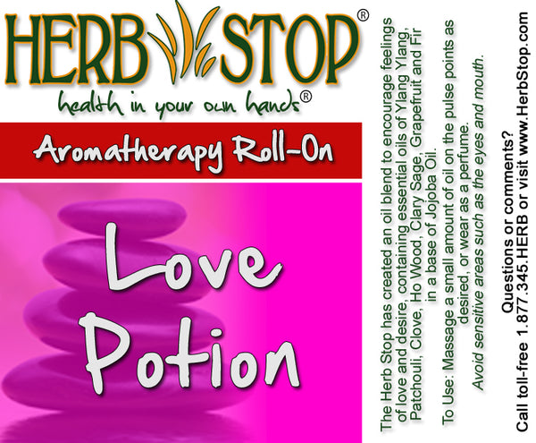 Love Potion Roll-On Oil Blend Label