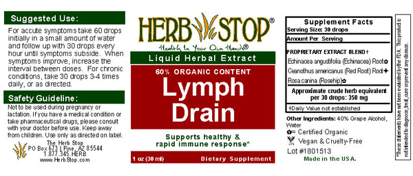 Lymph Drain Extract Label