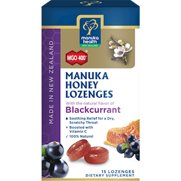 Manuka Honey Black Currant Lozenges