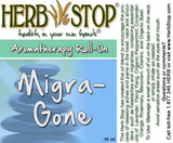 Migra-Gone Roll-On Oil Blend Label