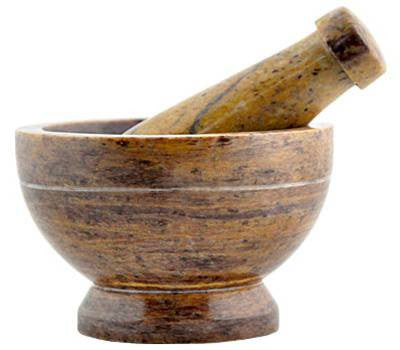 Mortar & Pestle - Brown Without Markings (Short)
