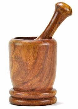 Mortar & Pestle - Wood (Tall)