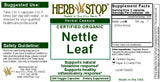 Nettle Leaf Capsules Label