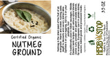 Organic Nutmeg Ground Label