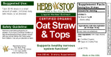Oat Straw and Tops Extract Label