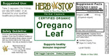 Oregano Capsules Label