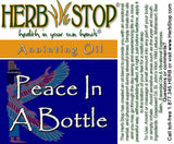 Peace In A Bottle Roll-On Oil Blend Label
