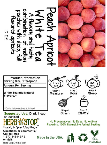 Peach Apricot White Tea Label