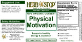 Physical Motivation Capsules Label
