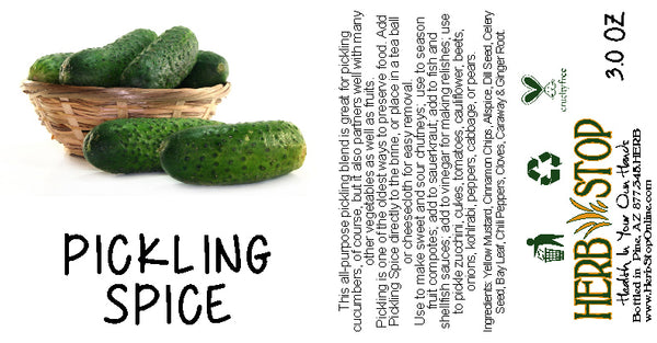 Pickling Spice Label