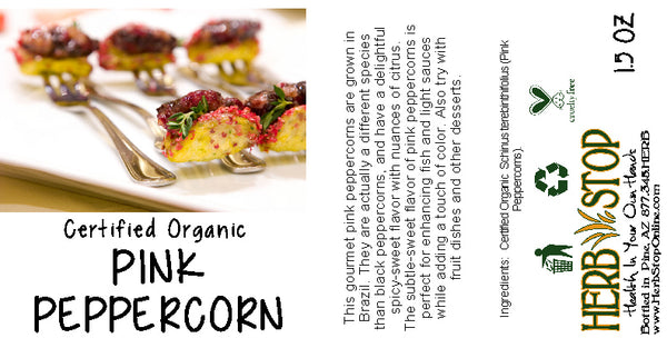 Pink Peppercorns Label