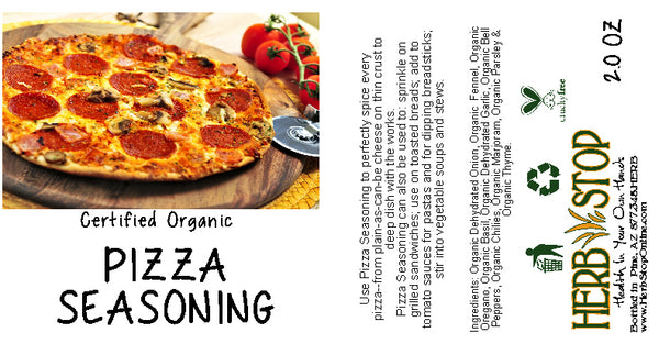 Pizza Seasoning Label