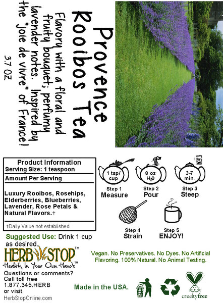 Provence Rooibos Tea Label