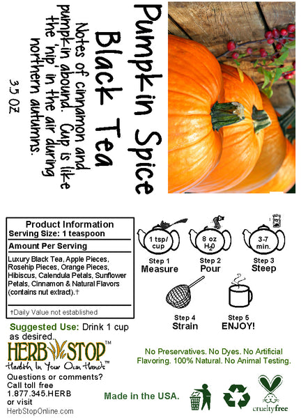 Pumpkin Spice Black Tea Label